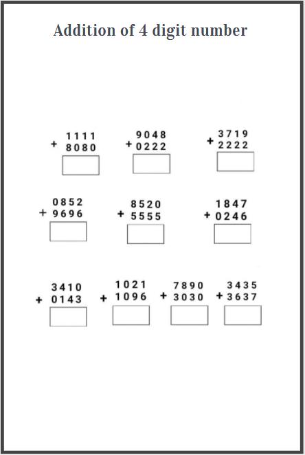 4 digit addition