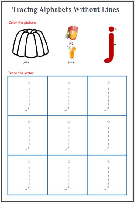 alphabet tracing sheet