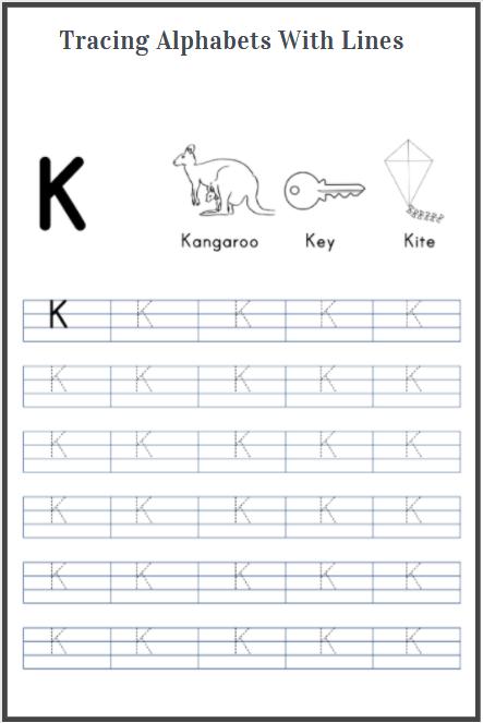 alphabets tracing