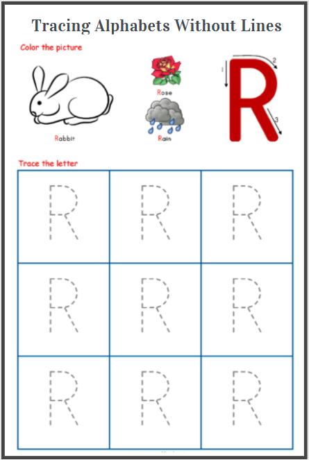 alphabets tracing printables