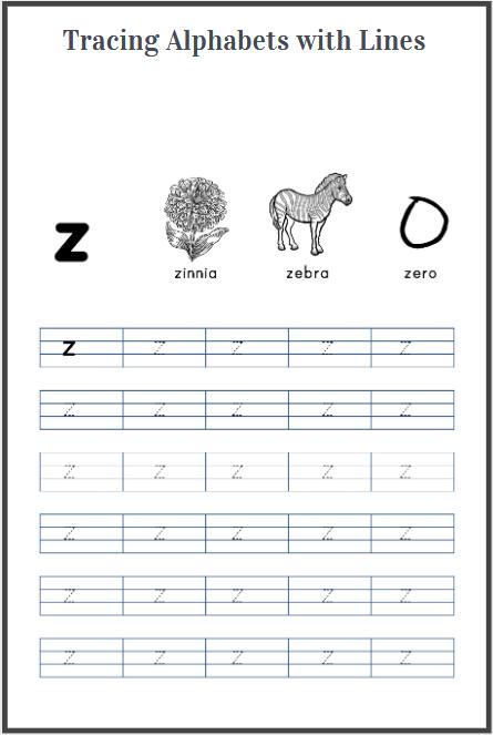 alphabets tracing sheet