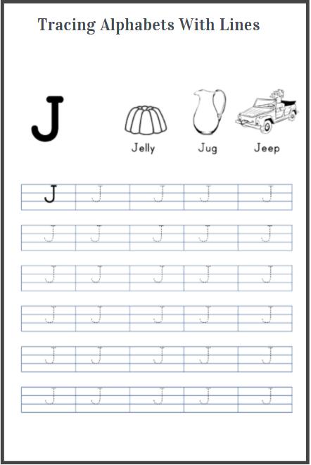 alphabets tracing worksheets printables
