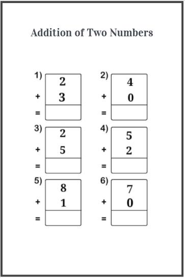 one digit addition