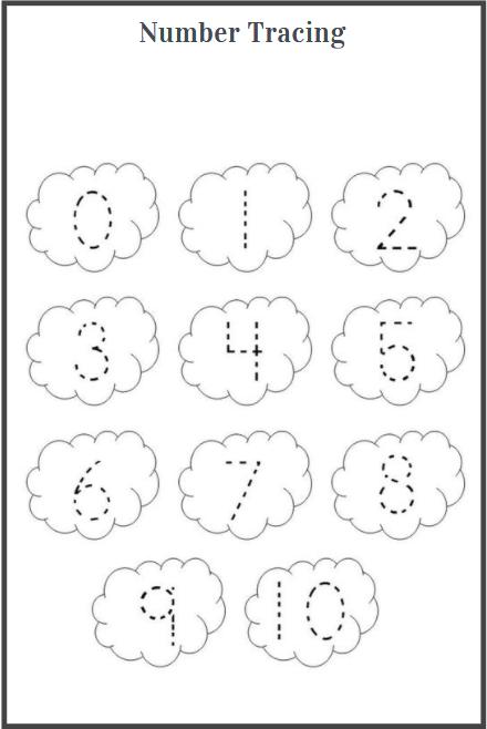 tracing numbers worksheet