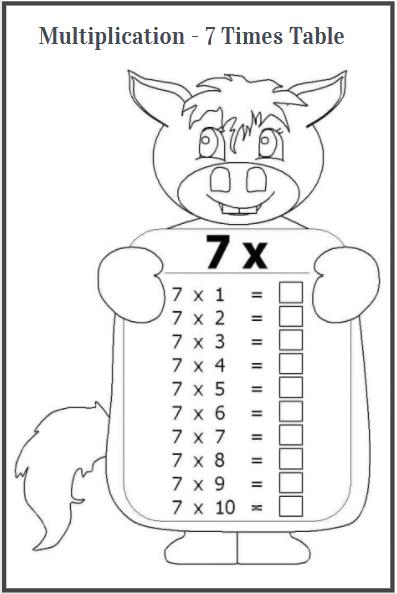 7 times table worksheet fun