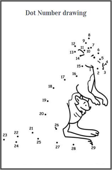 dot to dot drawing worksheets