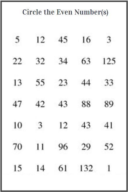 even numbers worksheet grade 1