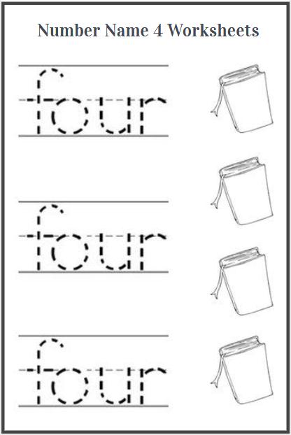 number name 4 worksheet