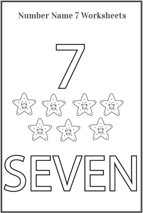 number name 7 worksheet