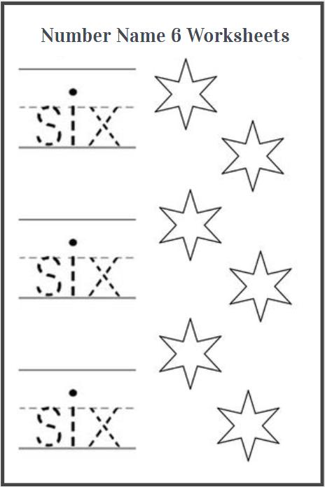 number name six worksheets