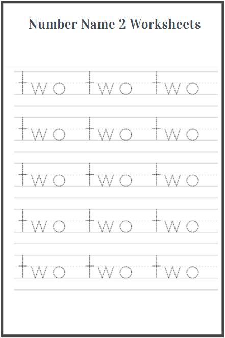 number name two worksheet