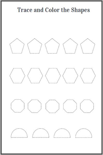 shapes tracing worksheet