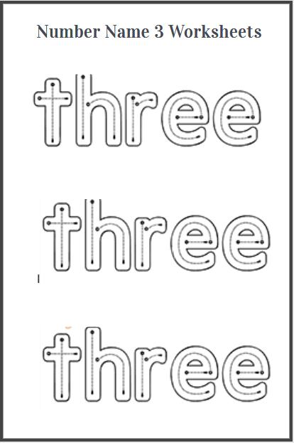 trace the sight word three