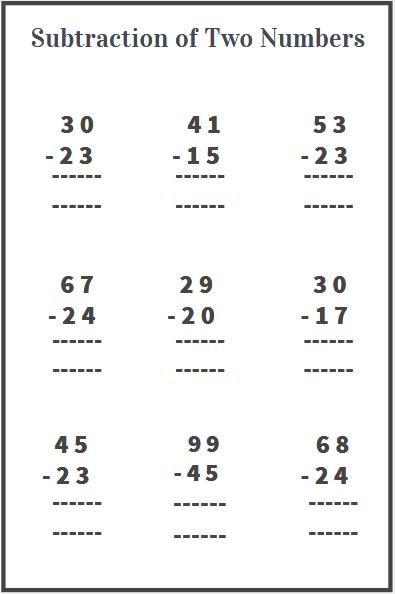 2 digit subtraction worksheets free download