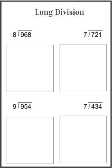 3 digit division worksheet