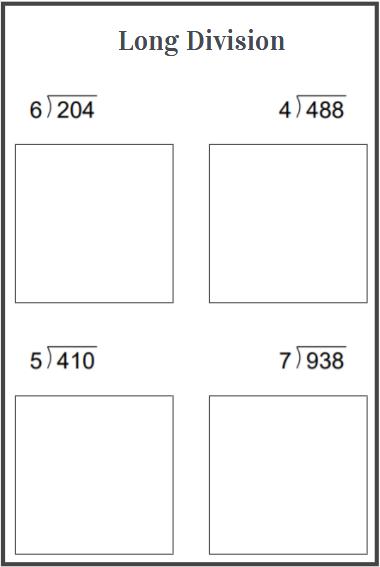 3 digit division worksheets