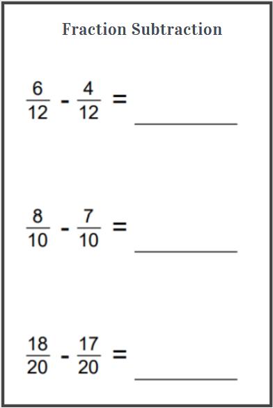 fraction subtraction worksheets free download