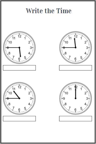 free printable clock worksheets