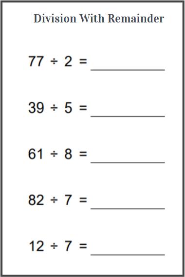grade 4 division worksheets