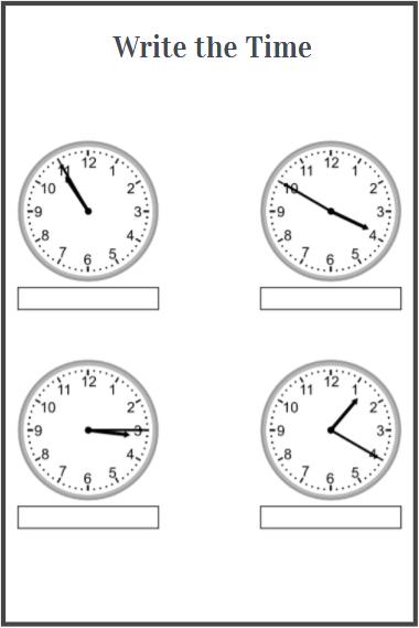 time worksheets free download