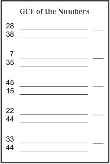 gcf worksheets free download