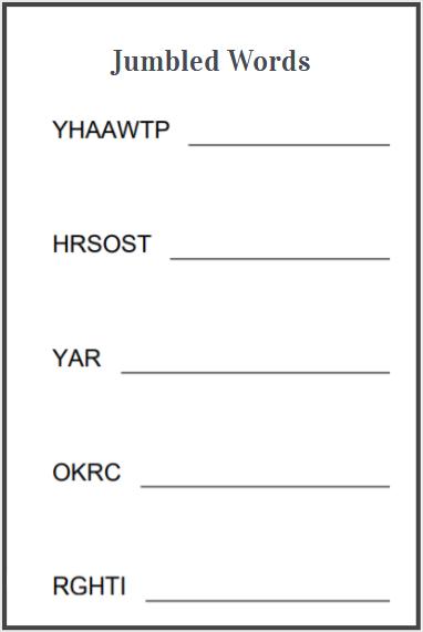 jumbled words worksheets