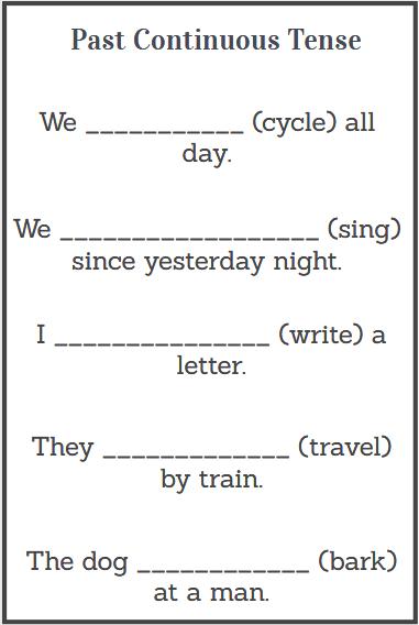 simple past continuous tense